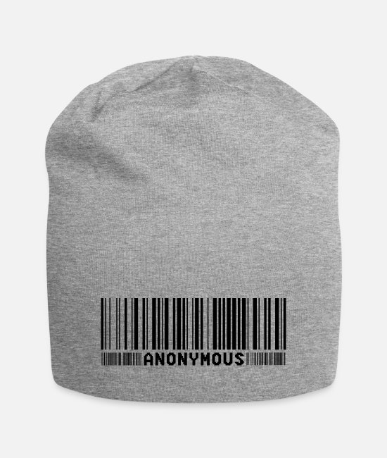 Obey Caps & Hats - Anonymous Barcode - We Are Legion - Shirt - Beanie heather grey