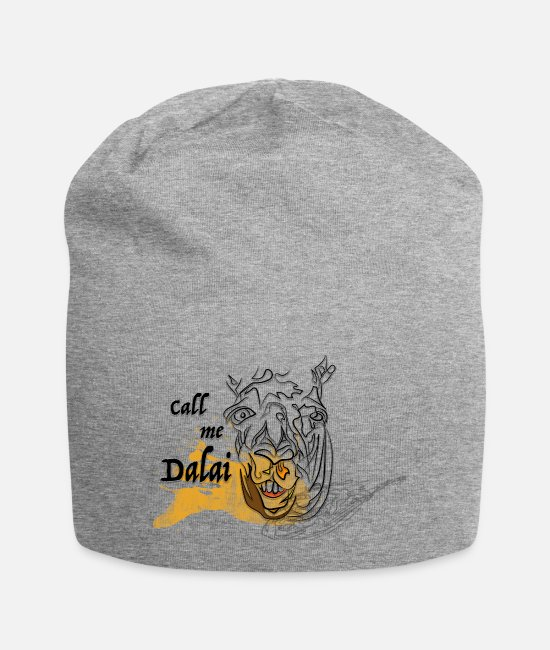Silly Caps & Hats - Call me Dalai - Beanie heather grey