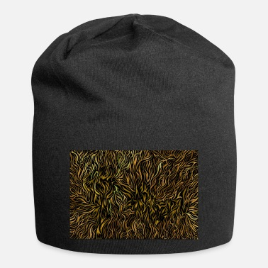 Jvelosa Fly away hidden lettering black and yellow - Beanie
