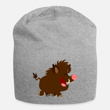 Joyous Cartoon Wild Boar by Cheerful Madness!! - Beanie