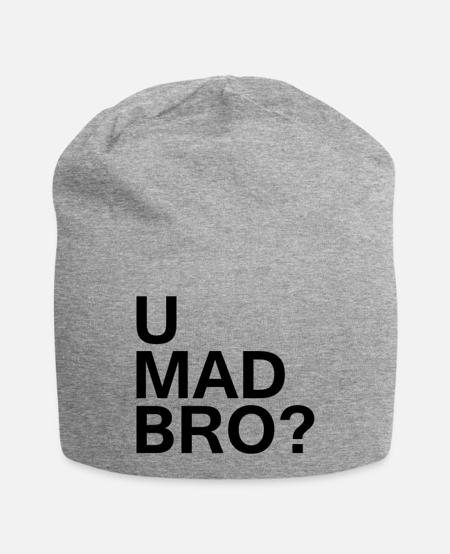 Hipster Caps & Hats - U mad bro? - Beanie heather grey