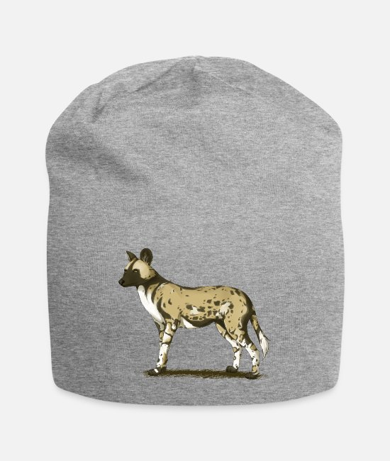 Nature Caps & Hats - African wild dog - Beanie heather grey