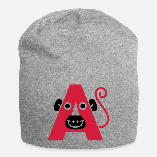 Pregnancy Caps & Hats - letter A - Beanie heather grey