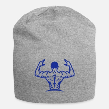 Silver bodybuilding back muscle man 1063 - Beanie