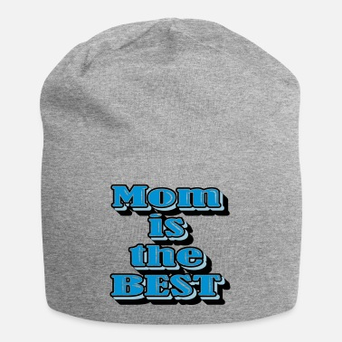 Mom is the Best BLUE BLUE WHITE Big - Beanie
