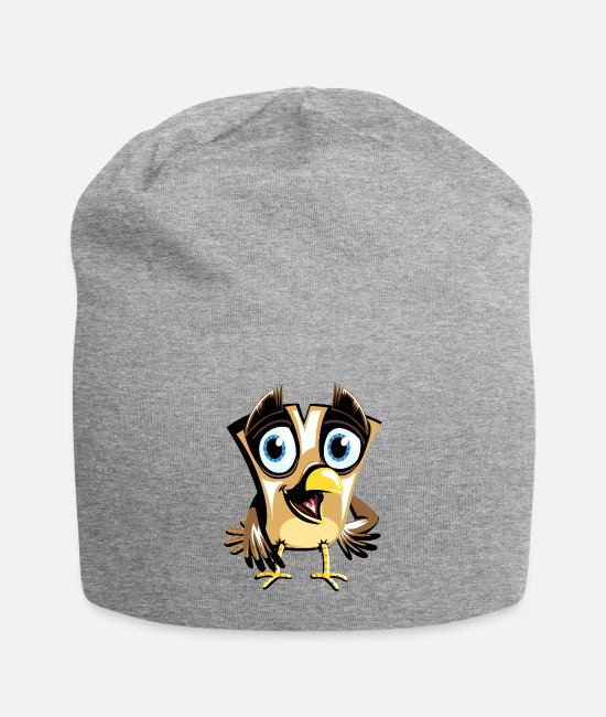 Pilot Caps & Hats - bird - Beanie heather grey