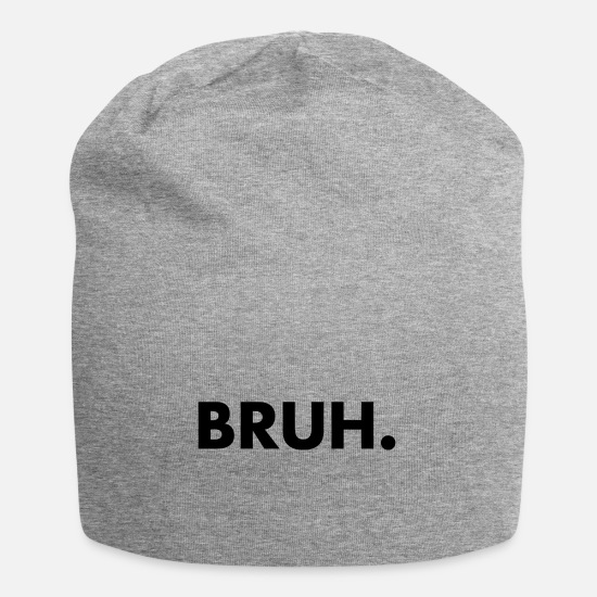Bruh Caps & Hats - BRUH. - Beanie heather grey