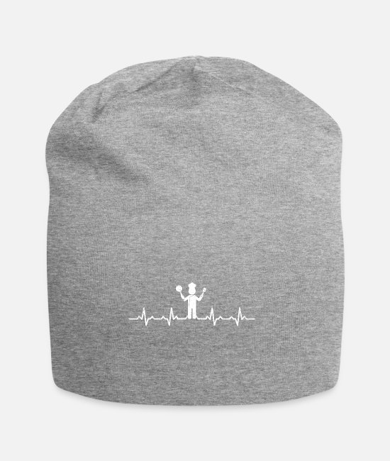 Heart Caps & Hats - Cook heartbeat heartbeat gift heartbeat - Beanie heather grey