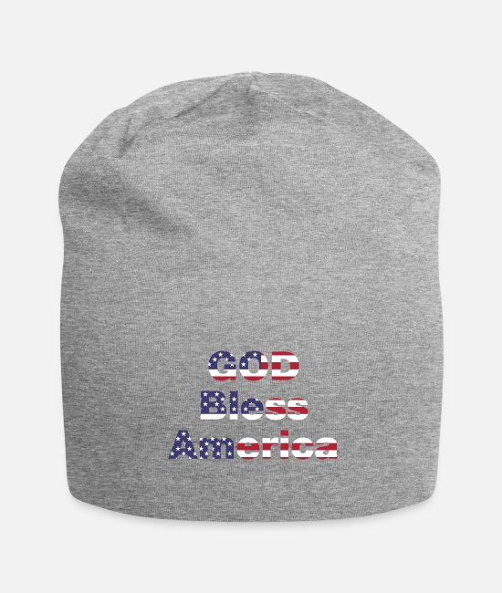 Usa Caps & Hats - god bless america - Beanie heather grey