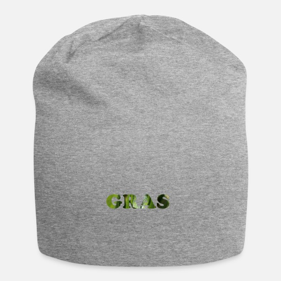 Pothead Caps & Hats - Grass as a word - Beanie heather grey