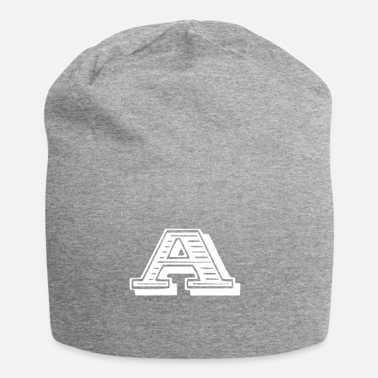 Letter Caps & Hats - Letter a - Beanie heather grey