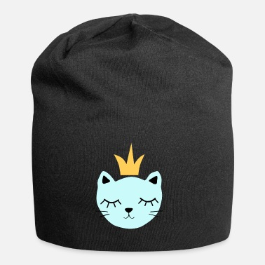 Blue cat with crown - Beanie