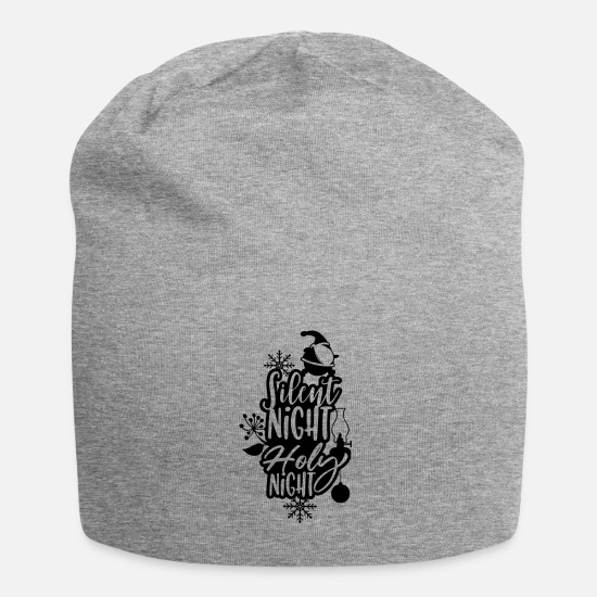 Snowflake Caps & Hats - Silent Night Holy Night Christmas Santa - Beanie heather grey