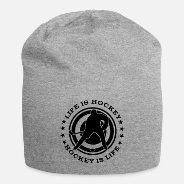 Hockey Fan LIFE IS HOCKEY, ice hockey, ice hockey fan - Beanie