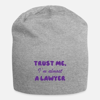 Carneval Trust me i`m almost Lawyer Attorney Justice - Beanie