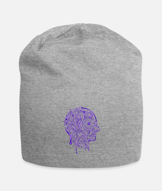 Brain Caps & Hats - T shirt strongest brain head Women's Men's T-shirts - Beanie heather grey
