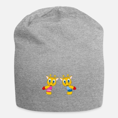 Mode Funny giraffes - heart - love - love - fun - Beanie