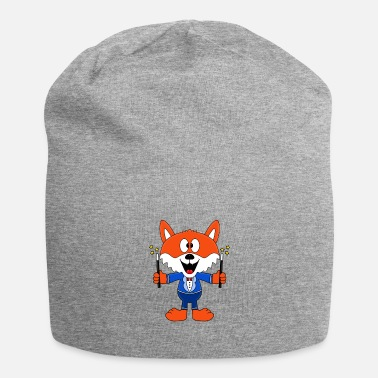 Heart Funny fox - magician - magician - magic - fun - Beanie