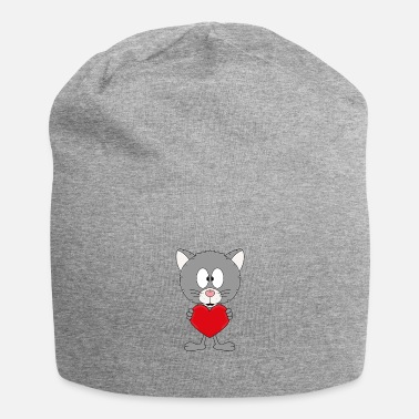 Mood Funny cat - heart - love - love - animal - fun - Beanie