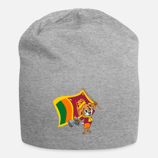 Sri Lanka Caps & Hats - Sri Lanka fan dog - Beanie heather grey