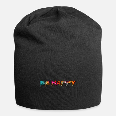 Liquid Letters be happy liquid letters - Beanie