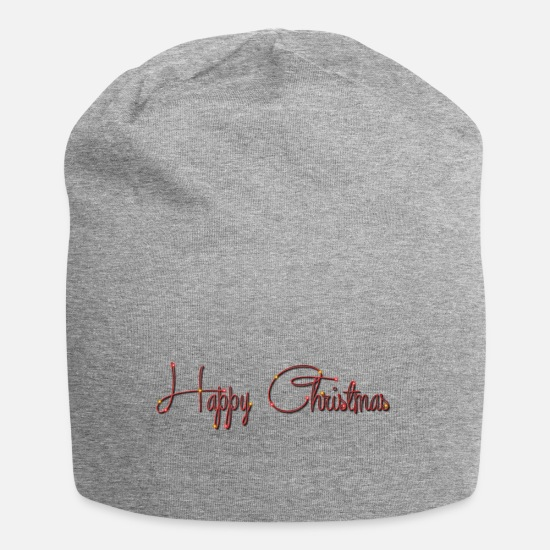 Christmas Caps & Hats - Happy Christmas! - Beanie heather grey