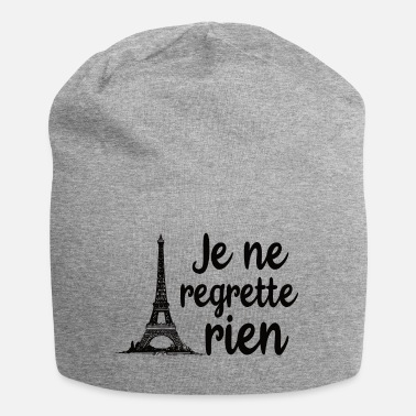 To Regret No regrets I do not regret Paris - Beanie