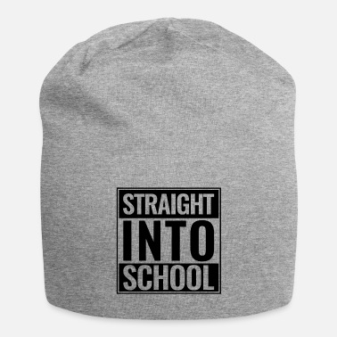 Back To School Back to school Straight Into School Logo black - Beanie