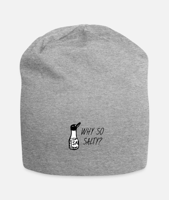 Salt Caps & Hats - Why so salty? - Beanie heather grey