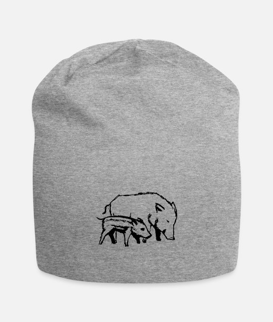 Nature Caps & Hats - pigs - Beanie heather grey