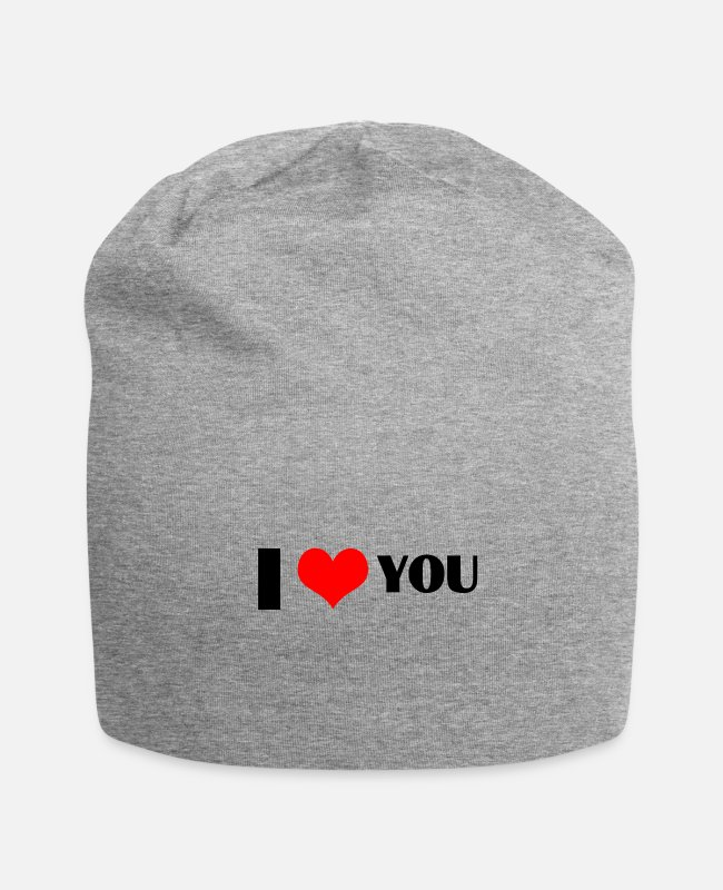 Heart Caps & Hats - ICH LIEBE DICH - Beanie heather grey