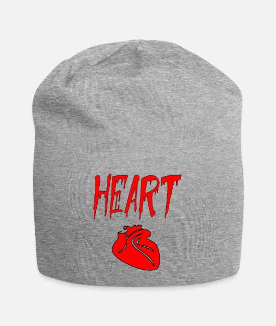 Heart Rate Caps & Hats - heart heart - Beanie heather grey