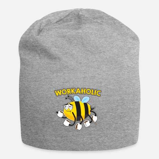 Coffee Bean Caps & Hats - WORKAHOLIC Bee - Beanie heather grey