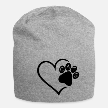 Paw Cat Cats Heart Paw Pet Animals Cat Cats sw - Beanie