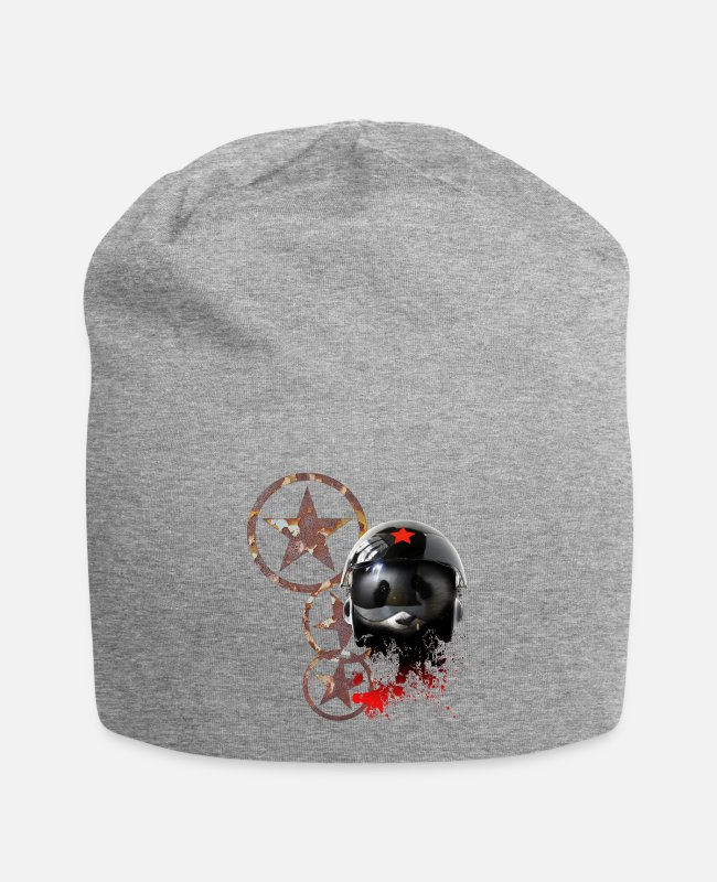 Pilot Caps & Hats - black russian pilot helmet by dk v5 - Beanie heather grey