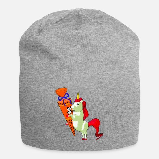 Horse Caps & Hats - Best School Design T-Shirt Premium Gift - Beanie heather grey