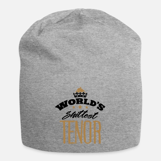 Tenor Caps & Hats - worlds shittest tenor - Beanie heather grey