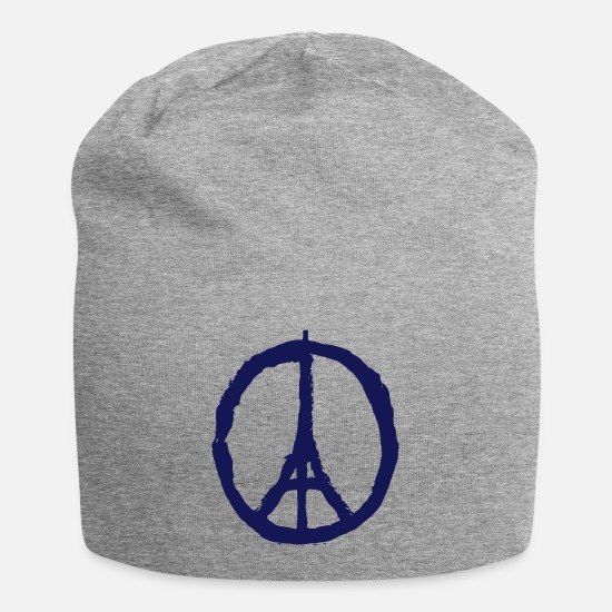 Paris Casquettes et bonnets - PRAY FOR PARIS - PEACE FOR PARIS - Beanie gris chiné