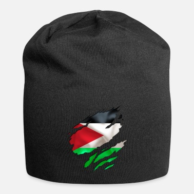 Country Flag Football Sport And Arab Art Jesus cool israel palestine - Beanie