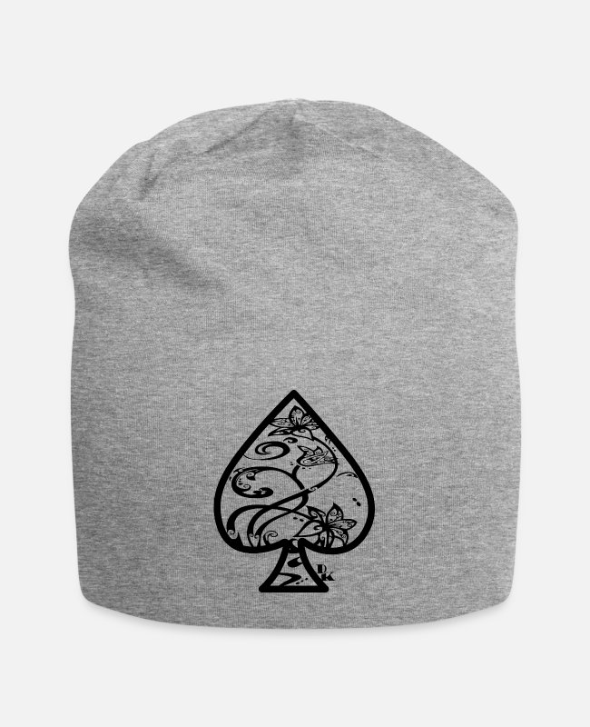 Mort Caps & Hats - Ace of Spades by dk - Beanie heather grey