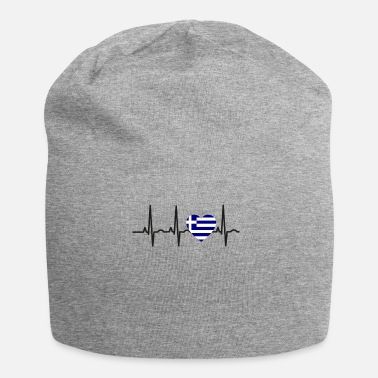 Greece I LOVE ekg heartbeat Greece greece - Beanie