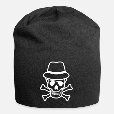 Horror Skull with Hat Vampire Skull Eye Patch - Beanie