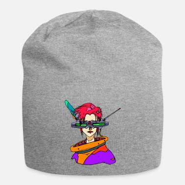 Jaren Negentig Space Punk Robot Girl - Future / Occupy Mars / 90s - Beanie