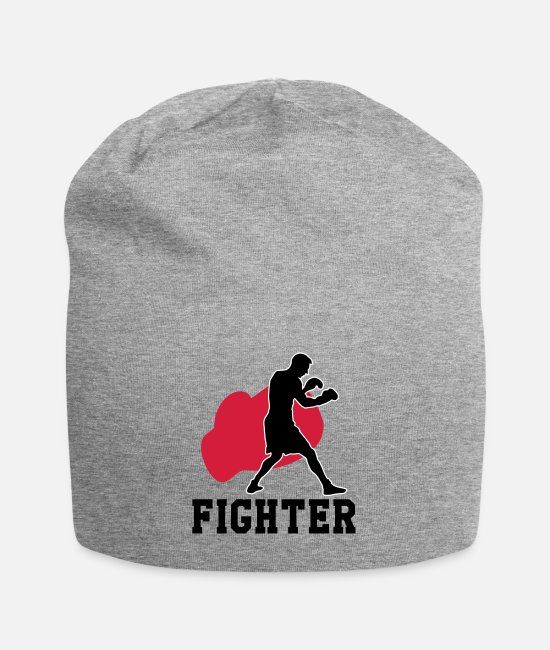 Fighter Caps & Hats - Boxing - Boxer - Fighter - Beanie heather grey