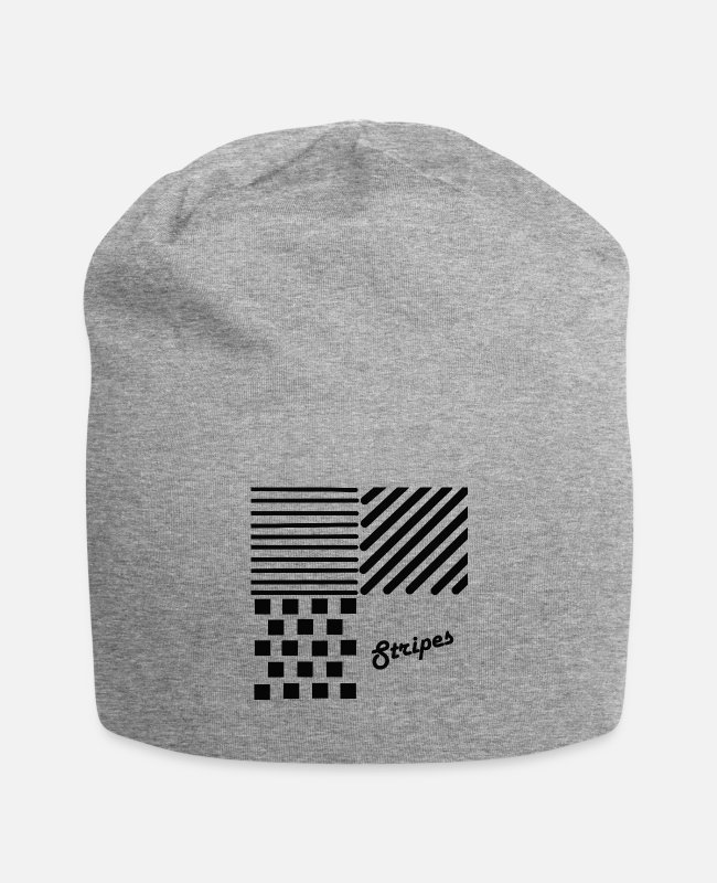 Geometry Caps & Hats - Stripes, Stripes, Patterns - Beanie heather grey