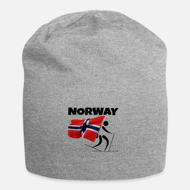 Cross Country Skiing Biathlon with heart in Norway as a gift - Beanie