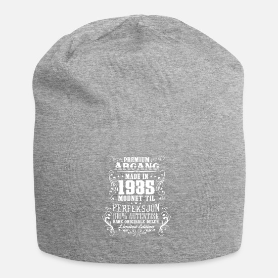 Birthday Caps & Hats - 1935 83 premium årgang bursdag gave NO - Beanie heather grey