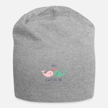Love Loved Loved Cute whales love in love saying love gift couple - Beanie