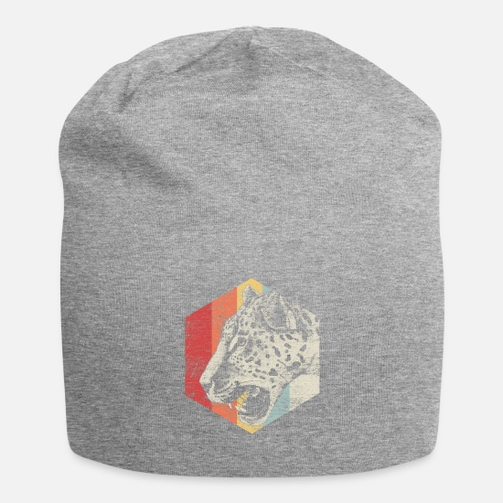 Gift Idea Caps & Hats - leopard - Beanie heather grey