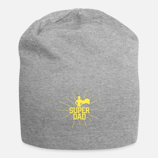 Super Caps & Hats - Super Dad - Beanie heather grey